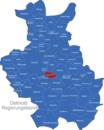 Map Detmold Regierungsbezirk Augustdorf
