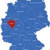 Map Deutsche Regierungsbezirke Arnsberg