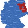 Map Deutsche Regierungsbezirke Brandenburg