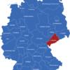 Map Deutsche Regierungsbezirke Chemnitz