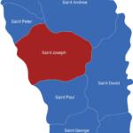 Map Dominika Bezirke Saint_Joseph