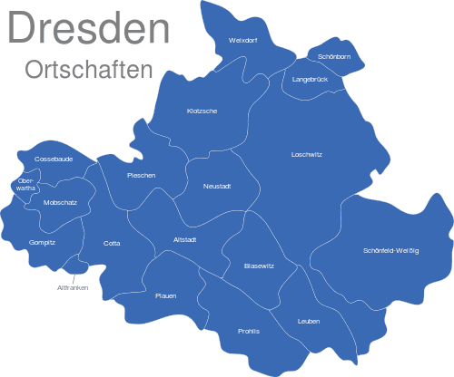 Dresden Ortschaften