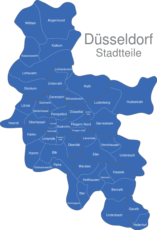 stadtteile düsseldorf karte Düsseldorf Stadtteile interaktive Landkarte | Image maps.de stadtteile düsseldorf karte