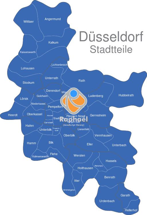 Düsseldorf Stadtteile Karte.Düsseldorf Stadtteile