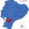 Map Ecuador Provinzen Azuay