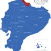 Map Ecuador Provinzen Carchi