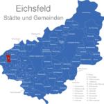 Map Eichsfeld Arenshausen