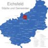 Map Eichsfeld Berlingerode