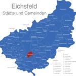 Map Eichsfeld Bernterode