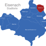 Map Eisenach Ortsteile Berteroda