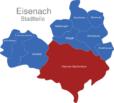 Map Eisenach Ortsteile Eisenach-Stadtzentrum
