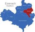 Map Eisenach Ortsteile Hötzelsroda