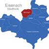 Map Eisenach Ortsteile Madelungen