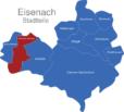 Map Eisenach Ortsteile Neuenhof-Hörschel