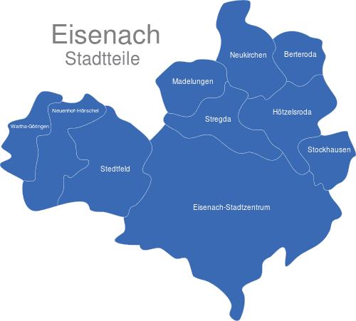 Eisenach Ortsteile