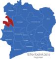 Map Elfenbeinkueste Regionen Bafing