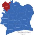 Map Elfenbeinkueste Regionen Denguele_1_