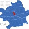 Map Erfurter Ortsteile Andreasvorstadt