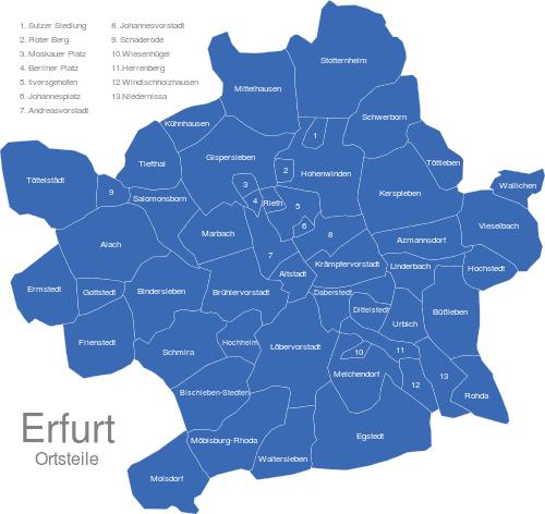 Erfurter Ortsteile