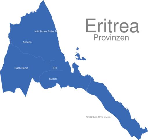 Eritrea Provinzen