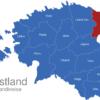 Map Estland Landkreise Ida-Viru