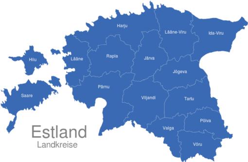Estland Landkreise