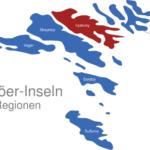 Map Färöer Inseln Regionen Eysturoy