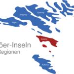Map Färöer Inseln Regionen Sandoy