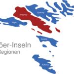 Map Färöer Inseln Regionen Streymoy