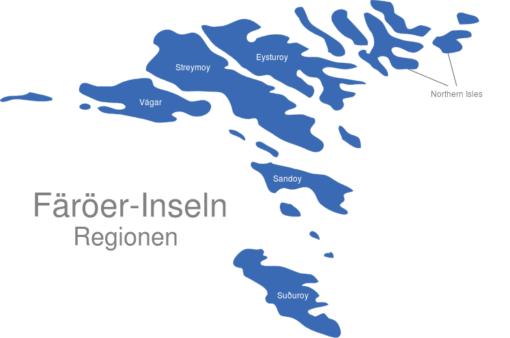 Färöer Inseln Regionen