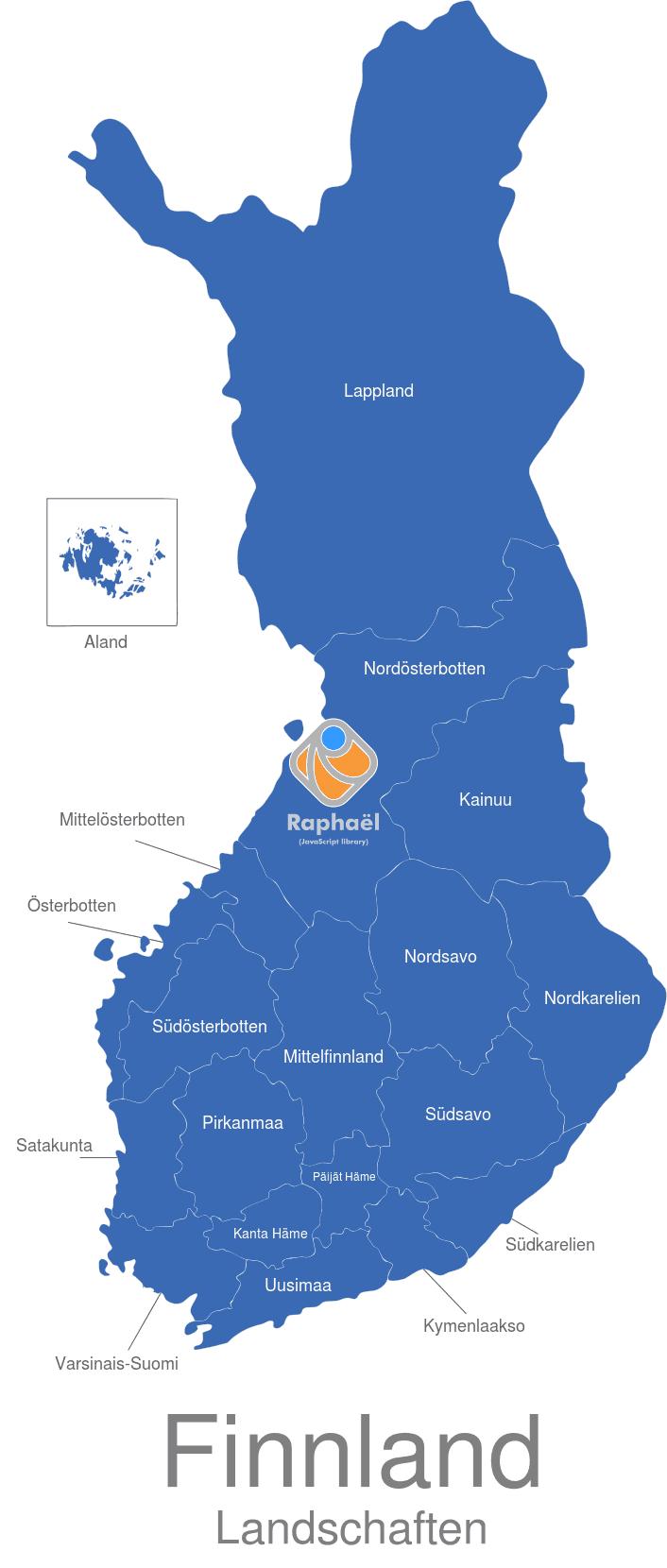 Finnland Karte Regionen.Finnland Landschaften