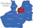 Map Flensburg Stadtteile Fruerlund