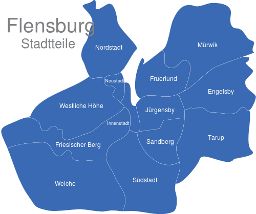 Flensburg Stadtteile