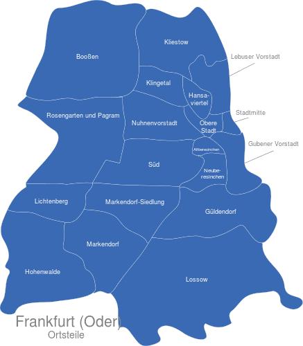 Frankfurt Oder Ortsteile