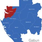 Map Gabun Provinzen Estuaire