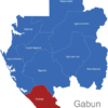 Map Gabun Provinzen Nyanga