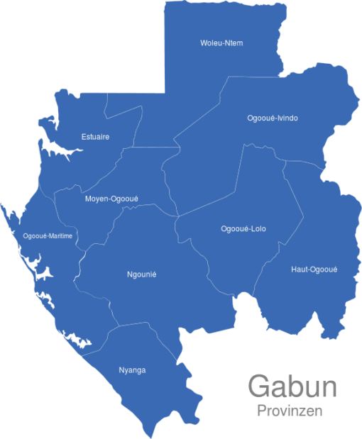 Gabun Provinzen