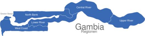 Gambia Regionen