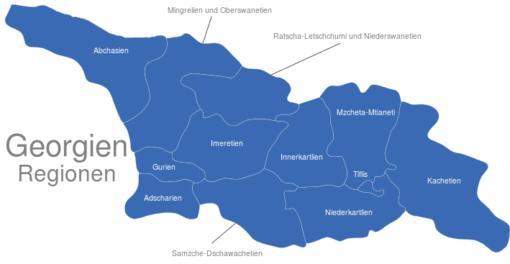 Georgien Regionen