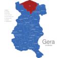 Map Gera Stadtteile Aga