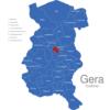Map Gera Stadtteile Bieblach