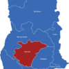 Map Ghana Regionen Ashanti
