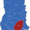 Map Ghana Regionen Eastern