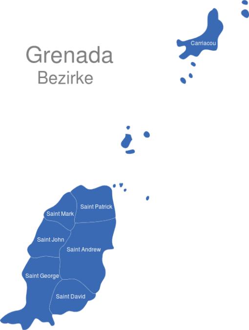 Grenada Bezirke