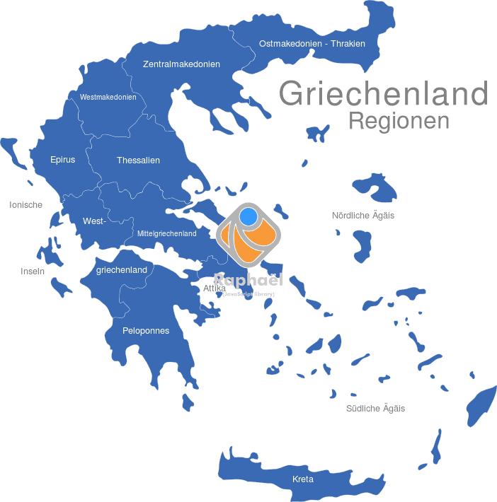 Peloponnes Karte Regionen.Griechenland Regionen