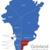 Map Grönland Gemeinden Ammassalik