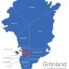 Map Grönland Gemeinden Ilulissat