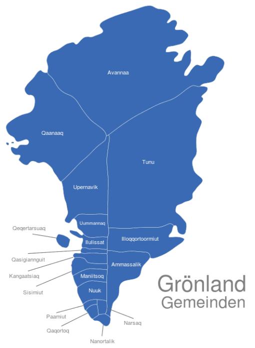 Grönland Gemeinden