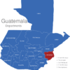 Map Guatemala Departments Chiquimula