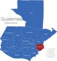 Map Guatemala Departments Chiquimula